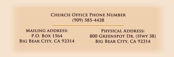 BBCC Office Numbers and Address